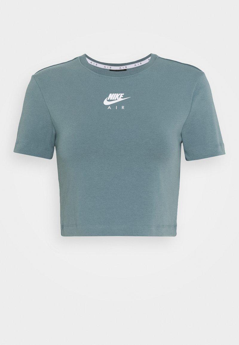 Nike Sportswear AIR CROP - T-Shirt print - ozone blue/blau B0YTr5