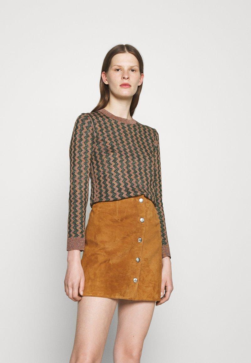 Alexa Chung - JUMPER - Strickpullover - light brown