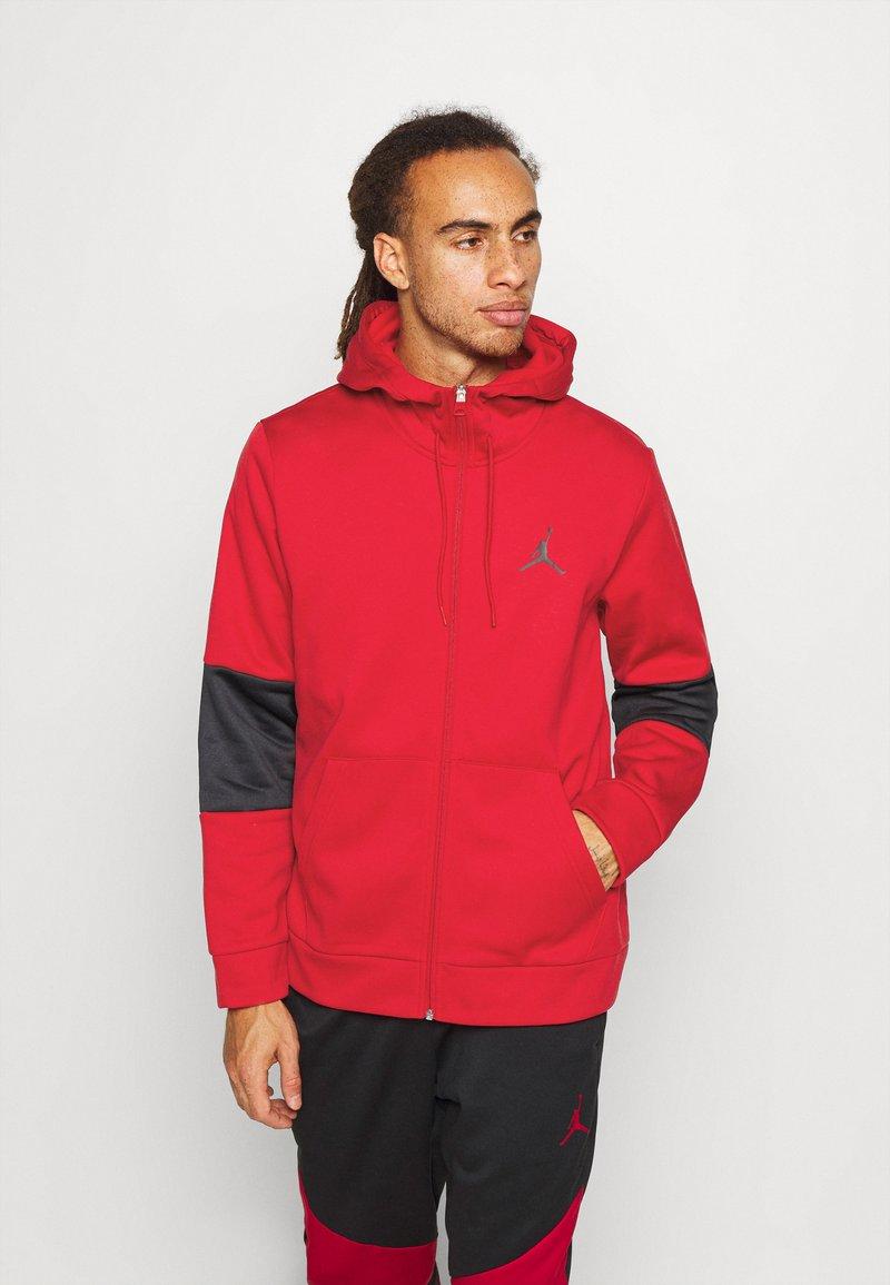 Jordan - AIR THERMA FULL ZIP - Forro polar - gym red/black