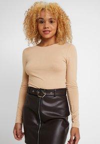 Even&Odd Petite - 2 PACK - Long sleeved top - tan/black - 2