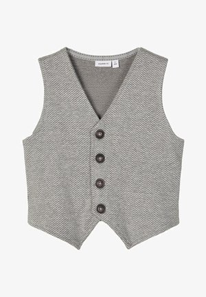 Waistcoat - grey melange