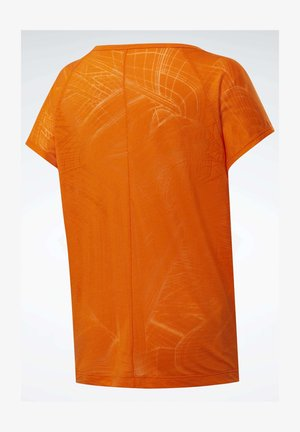 BURNOUT T-SHIRT - Print T-shirt - orange