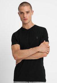 AllSaints - TONIC V-NECK - Basic T-shirt - jet black - 0