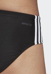 adidas Performance - Fitness 3-Stripes Swim Trunks - Bañador - black/white - 5