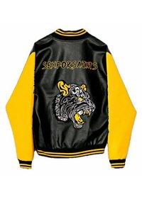 SEXFORSAINTS - ANTI-HERO VARSITY - Faux leather jacket - metallic black - 6