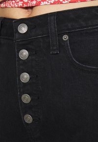 Abercrombie & Fitch - SHANK CURVE - Jeans Skinny Fit - black - 4