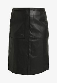 Lost Ink Plus - SKIRT WITH POCKETS - A-line skirt - black - 4