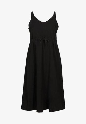 MIT SMOCK - Maxi dress - black