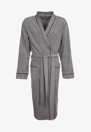 BATHROBE - Dressing gown - stone grey melange