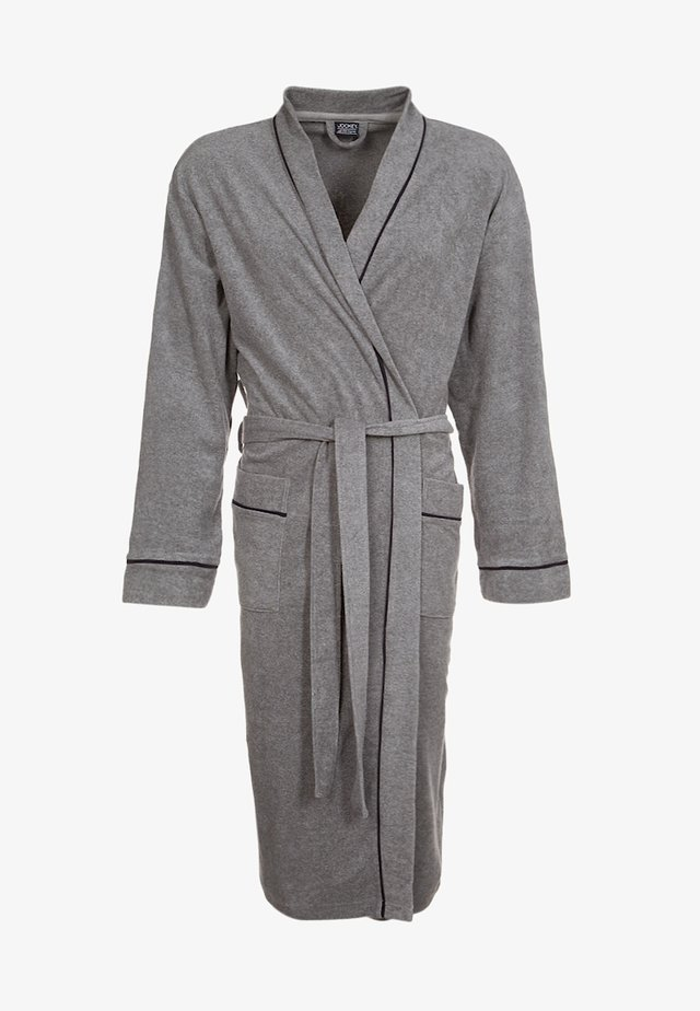 BATHROBE - Peignoir - stone grey melange