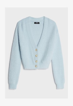 MIT KNÖPFEN  - Strickjacke - light blue