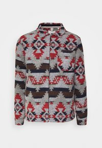 Anerkjendt - OSCAR OVERSHIRT - Summer jacket - grey/dark blue/dark red - 0