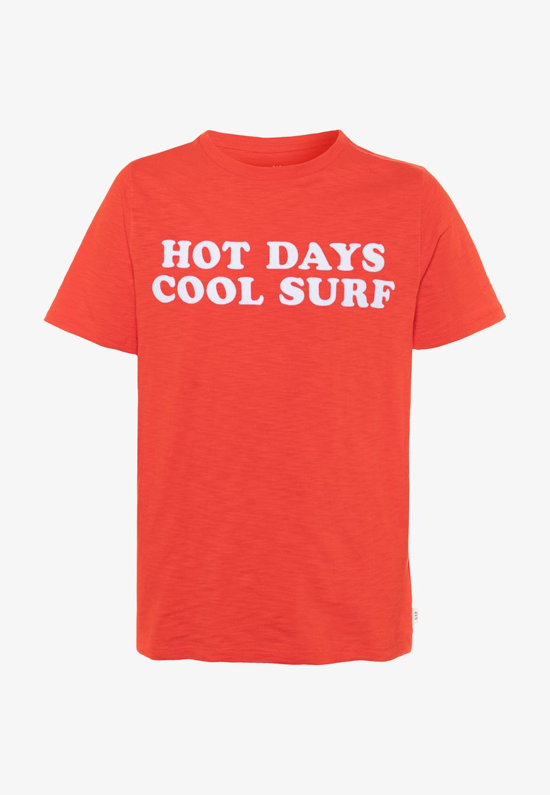 GAP - BOY FRONT BACK TEE - Camiseta estampada - hot coral