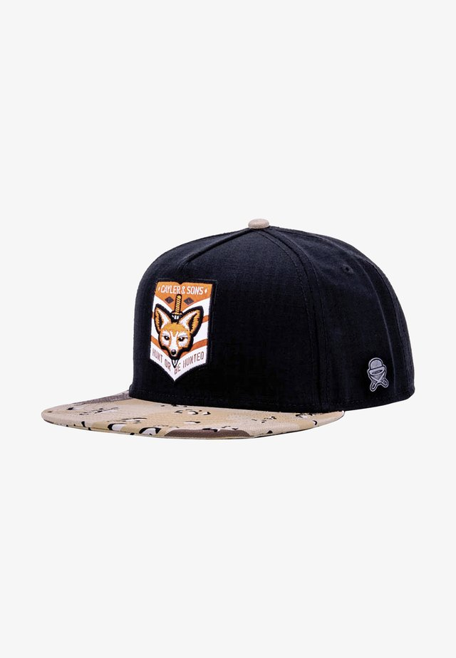 Cap - black/desert camo