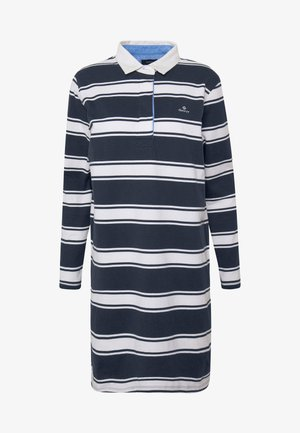 HEAVY RUGGER DRESS - Day dress - evening blue