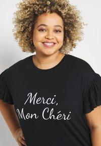 Simply Be - MERCI MON CHERI - Print T-shirt - black - 3