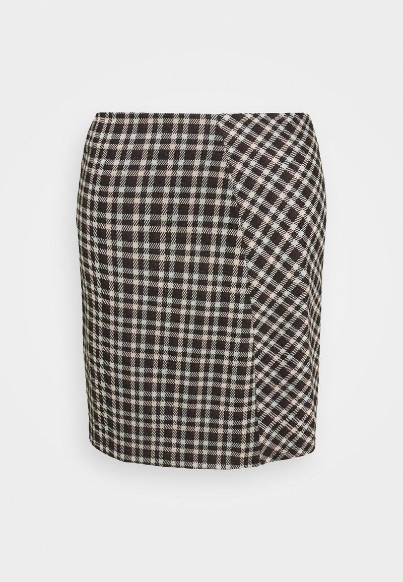 Pieces - PCSILVIA SKIRT - A-line skirt - mole/jadeite