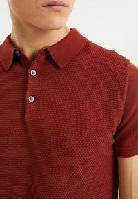 WE Fashion - MET STRUCTUUR - Poloshirt - red - 3