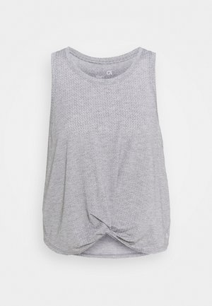SLEEVELESS TWIST FRONT  - Sportshirt - medium grey