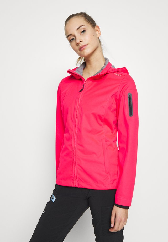 WOMAN JACKET ZIP HOOD - Veste softshell - gloss