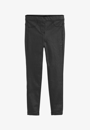 COATED JEGGINGS - Trousers - black