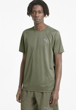 FAVOURITE - Print T-shirt - vetiver puma black
