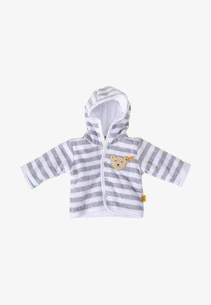 MIT KAPUZE - Fleece jacket - hellgrau