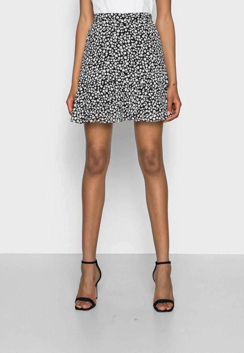 Marks & Spencer London - SOFT SKI - A-line skirt - black