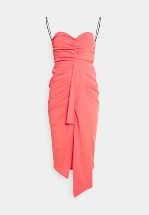 AMIYAH MIDI DRESS - Cocktail dress / Party dress - coral