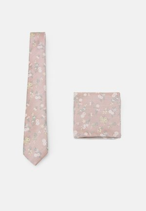 FLORAL TIE AND HANKIE SET - Tie - light pink