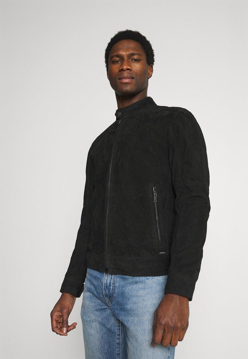 Strellson - OSCO - Leather jacket - black