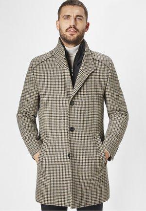 Classic coat - eggshell/black