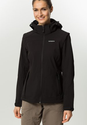 LEONIE - Soft shell jacket - black