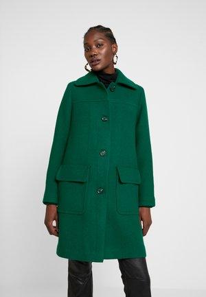 WOOL COAT - Classic coat - bottle green