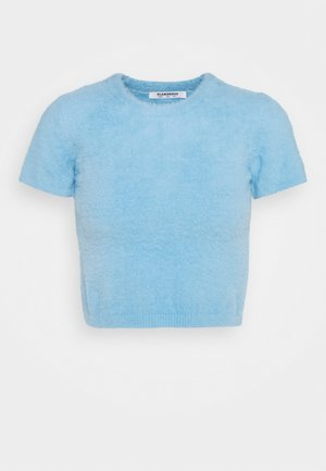 CROP TOP - Strikkegenser - blue
