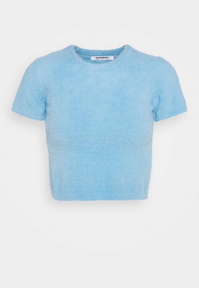 CROP TOP - Maglione - blue