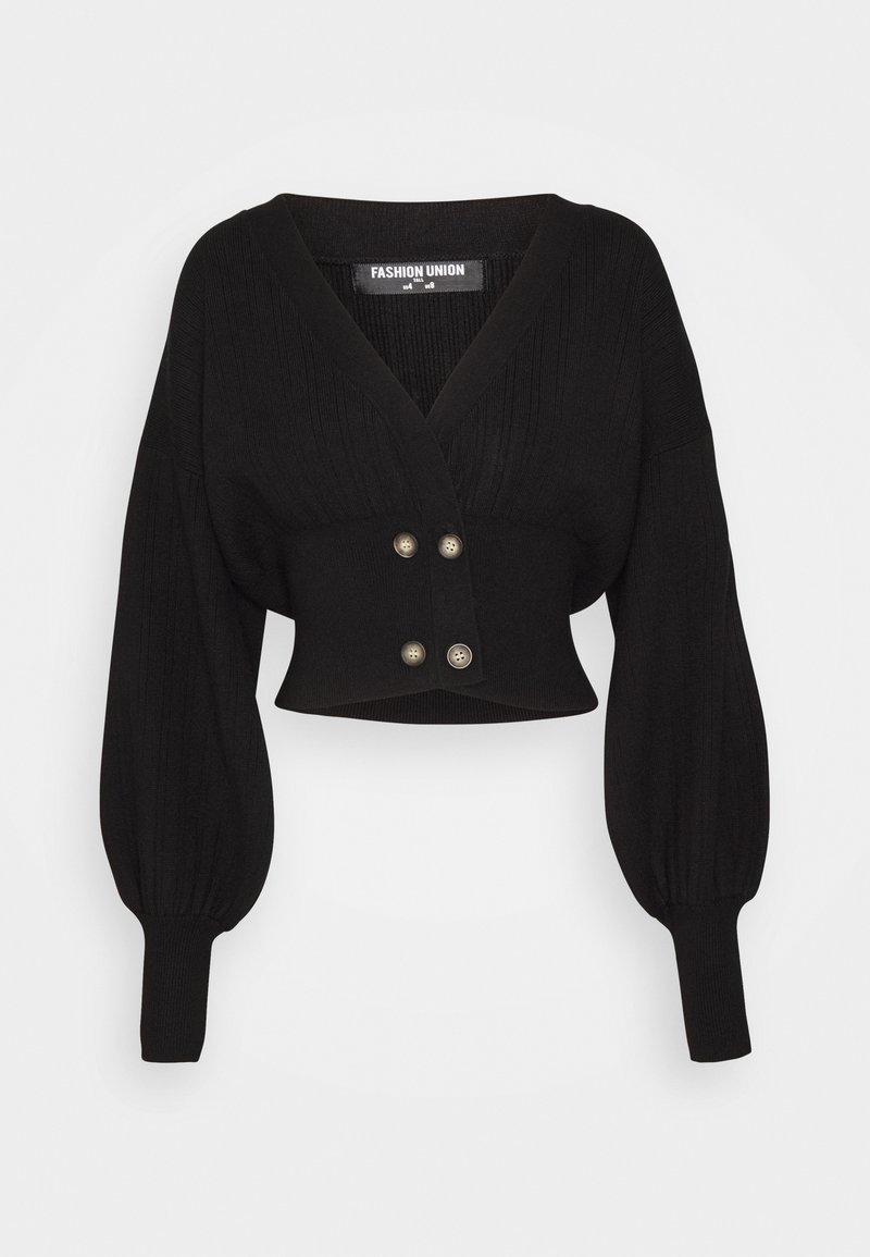 Fashion Union Tall - MEEKER - Cardigan - black