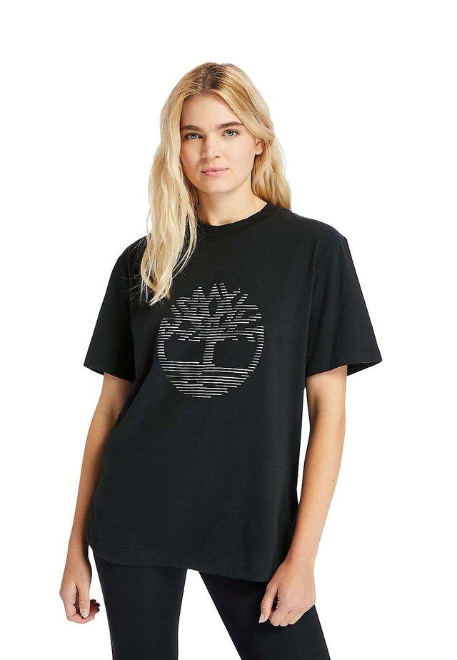 OVERSIZE IRIDESCENT - T-Shirt print - black