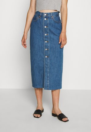 BUTTON FRONT MIDI SKIRT - Kynähame - middlebrook