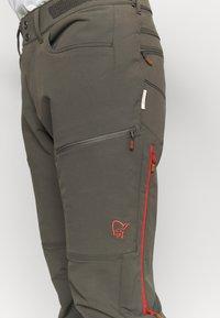 Norrøna - SVALBARD FLEX PANTS - Pantaloni outdoor - dark grey - 6