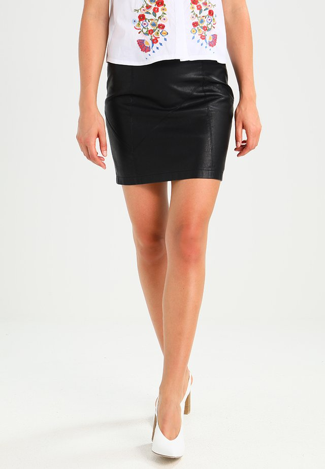 NMREBEL SKIRT - Minijupe - black