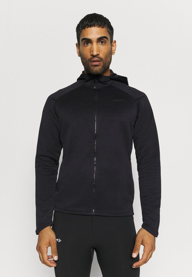 CHARGE ZIP HOOD JACKET - Hardloopjack - black