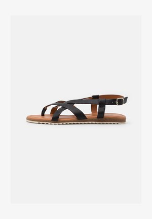 LORENA - Sandaler m/ tåsplit - black