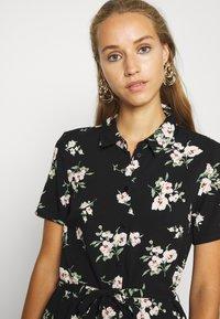 Vero Moda - VMSIMPLY EASY LONG SHIRT DRESS - Skjortekjole - black - 3