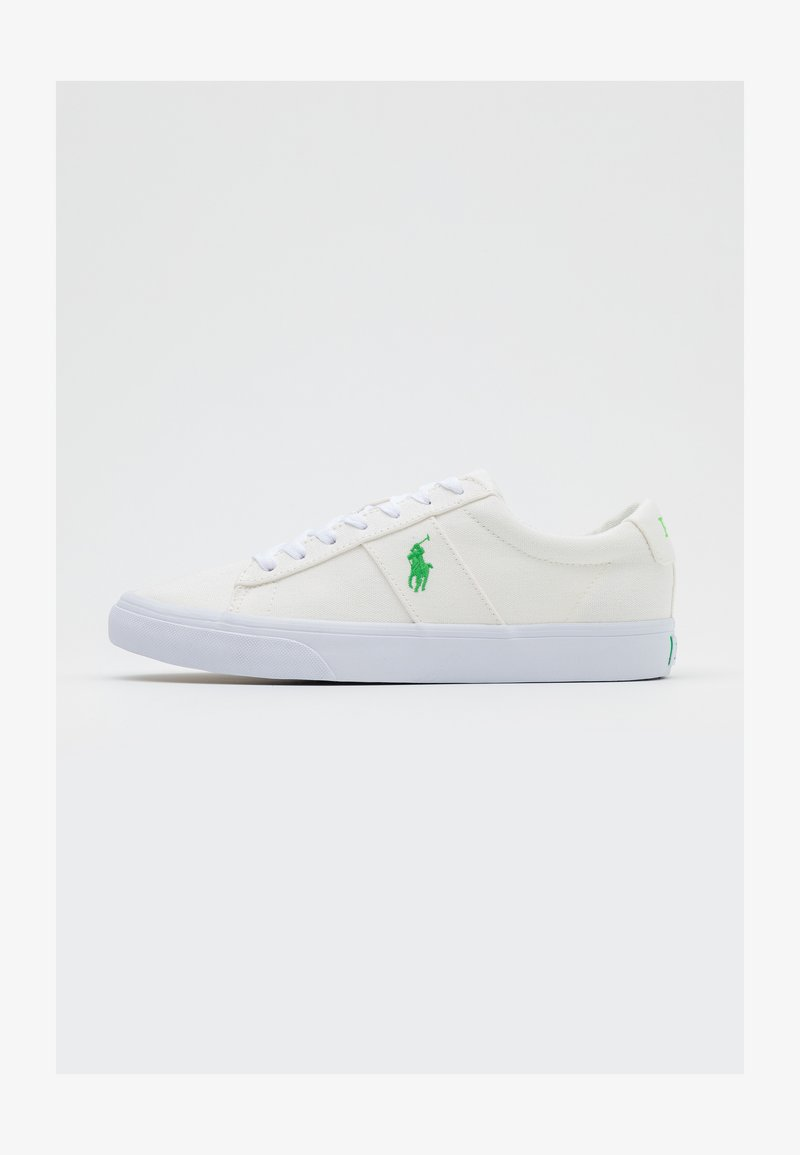Polo Ralph Lauren - SAYER - Baskets basses - white/neon green