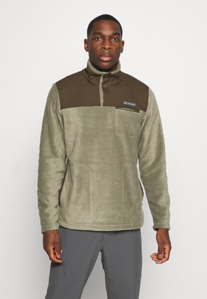 COTTONWOOD PARKHALF SNAP - Fleece trui - stone green/olive green