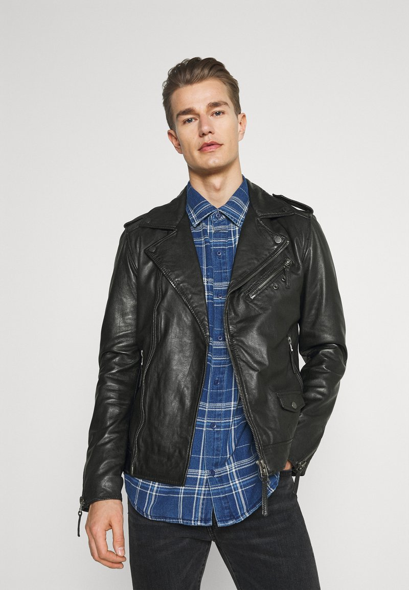 Oakwood - SOLDIER - Leather jacket - black