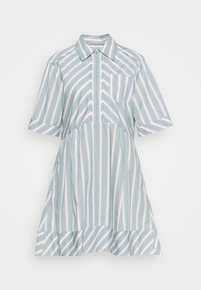 LINA - Shirt dress - aqua/white