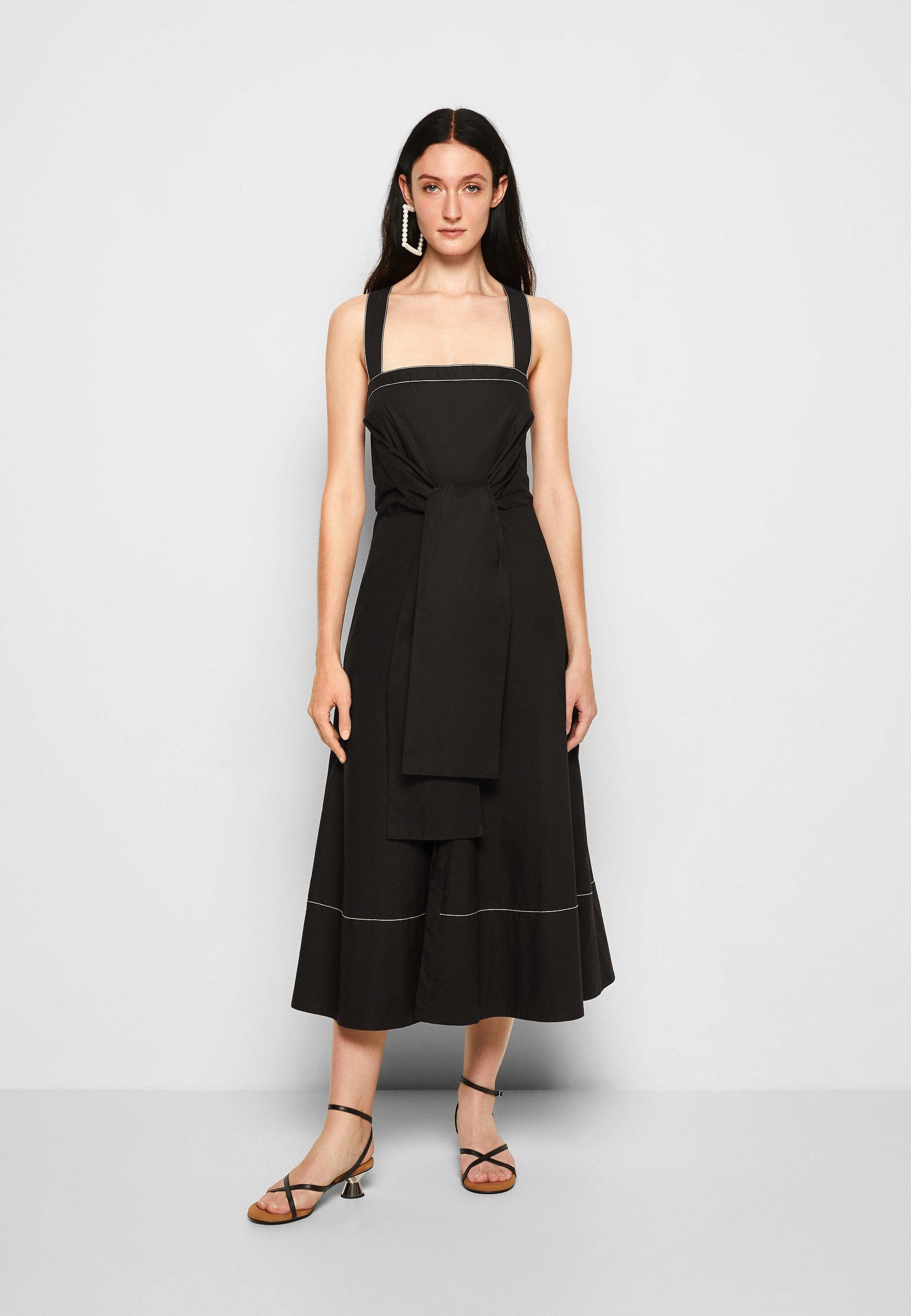 Mujer POPLIN APRON DRESS - Vestido informal