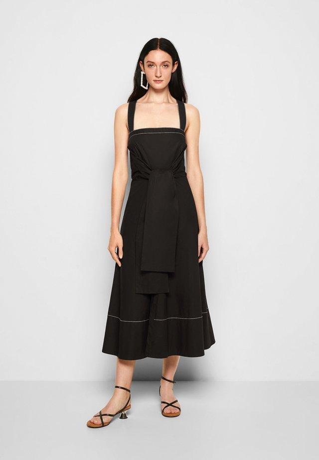 POPLIN APRON DRESS - Robe d'été - black